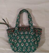 Vintage Vera Bradley Miniature Greenfield Zip Top Handle Tote Bag RARE