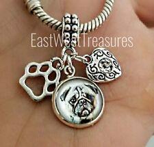 Custom Pug Puggle Dog Photo memory keepsake Pendant bracelet necklace