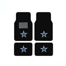 New 4pcs NFL Dallas Cowboys Car Truck Front Rear Carpet Floor Mats Set