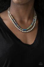 Paparazzi rainbow iridescence, metallic crystal like-beads Necklace & Earrings