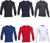 Under Armour Mens Compression Shirts Full Arm Baselayer Shirt HeatGear Top