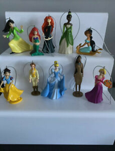 10 Disney Princess & Friends Christmas Tree Decorations, Cinderella, Jasmine