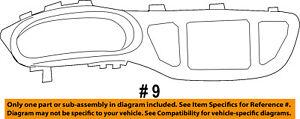 Dodge CHRYSLER OEM Dart Instrument Panel Dash-Gauge Cluster Bezel 1ZV22DX9AB