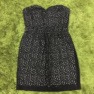 Urban Outfitters Pins & Needles Black Eyelet Dress Size AUS 8