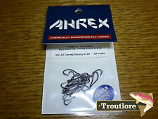 18 x AHREX NS150 #10 NORDIC SALT CURVED SHRIMP HOOKS NEW FLY TYING MATERIALS