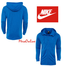 5ec0de02367de6 SZ MEDIUM COOL 🆕 Nike Men s Full Zip Light Hoodie Jacket Sportswear Blue  928433