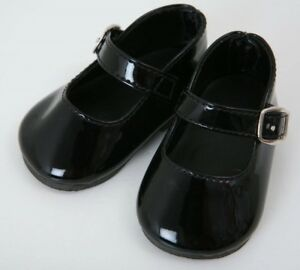 FRILLY LILY BLACK SCHOOL SHOES FOR DOLLS, LOTS OF SIZES !