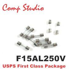 10pcs 15A 250V Fast-Blow Fuse Glass Tube Fuse 5mmx20mm F15AL250V