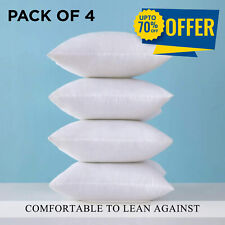 Pack Of 4 Cushion Inserts Inners Pad 20 in X 20 in Soft Deep Filled Hollow Fiber