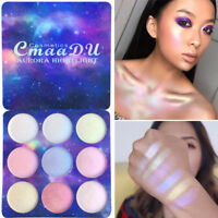 9 Colors/Box Highlighter Lidschatten Palette Chamäleon Eye Shadow Pulver Makeup