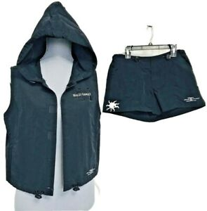 Surf Style sleeveless Jacket vintage shorts set Maui Hawaii S M L Windbreaker