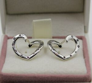 AUTHENIC PANDORA Bright Hearts Hoop Earrings 297231NRPMX   #1413    W / BOX
