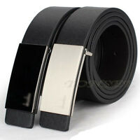 New Men's Luxury Automatic Buckle Formal Leather Waist Strap Belts Buckle Belt