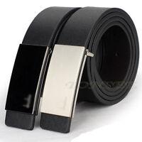 US New Men Luxury Automatic Buckle Formal Leather Waist Strap Belts Buckle Belt