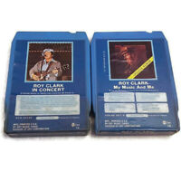 Roy Clark My Music And Me/In Concert 2 8 Track Tape Lot 8310-2054 H DO 2072 N