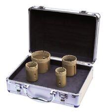 Diamant Fliesenbohrer Set 4 teilig inkl. Alu - Transportkoffer M14