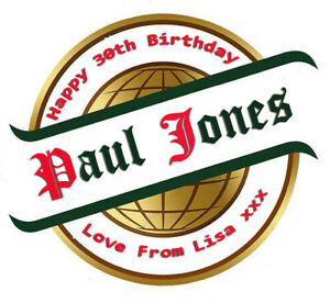 2 X PERSONALISED SAN MIGUEL BEER BOTTLE LABELS 660ML - PARTY / BIRTHDAY / XMAS