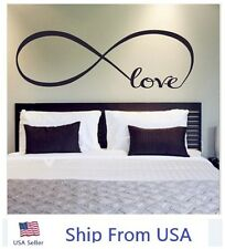 LOVE Infinity Wall Decal Lettering Words Removable Vinyl Quote Stickers Bedroom