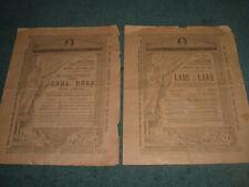 2 Royal Lyceum Theatre Programmes 1886 VICTORIAN Lady of Lake & Carl Rosa