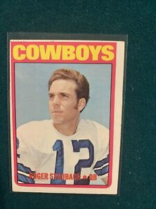 1972 ROGER STAUBACH TOPPS ROOKIE RC CARD #200 COWBOYS VINTAGE