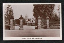 Entrance South Park Darlington 1940's ? Postcard Co. Durham ~ SUPER IMAGE