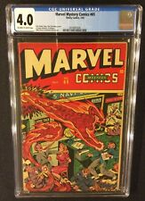 MARVEL MYSTERY COMICS #65 CGC 4.0 Golden Age TIMELY 1945 SCHOMBURG Cover 10 Cent