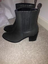 Jigsaw Grey Leather Ankle Boots 37 RRP £159