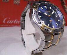 Men's LN Fossil Blue AM-3722 Watch Rated 330 ft Standard Wrists. 2 Year Warranty