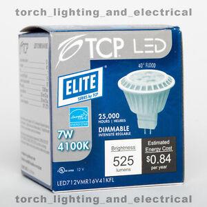 LED TCP Lighting LED712VMR16V41KFL Dimmable MR16 7W=50W 4100k 40D 550lm GU5.3