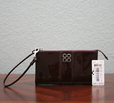 NEW COACH Julia Patent Leather Zippy Wallet 46726 CHOCOLATE BROWN