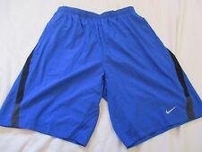 Nike Men Athletic Shorts Dri Fit Size M Blue 9 Inch Drawstring Inside