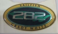 GRADY WHITE OEM 282 SAILFISH OVAL NAME DECAL **SMALL**