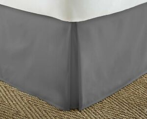 *NEW* ienjoy Home Premium Collection Pleated Bed Skirt, King, Gray, L2-2639
