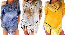 Lockre Sitzende Hüftlang Damenblusen,-Tops & -Shirts mit V-Ausschnitt und Baumwollmischung