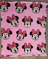 """Disney Minnie Mouse Fleece Throw Blanket Plush 47""""x40"""""""