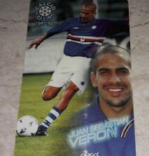 CARD PANINI CALLING 1997/98 SAMPDORIA VERON CALCIO 1998