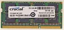 Crucial 4GB PC3-8500 DDR3-1066MHz CT51264BC1067.16FD for Macbook Pro iMac Mac