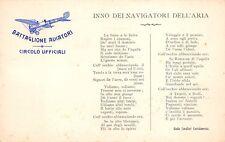 1444) CIRCOLO UFFICIALI, BATTAGLIONE AVIATORI, INNO DEI NAVIGATORI DEL,'ARIA.
