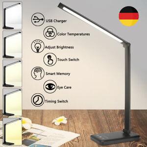 LED Schreibtisch-Lampe USB Tisch-Leuchte Büro dimmbar Touch Leselampe Nachttisch