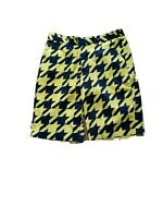loudmouth golf short pants cotton blend yellow and black men's size 32