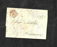 Lombardo Veneto lettera con 15 cent n.6 da Mantova a Cremona