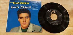 """ROCK N ROLL ELVIS PRESLEY """"KING CREOLE"""" 45 EP RECORD & SLEEVE 7"""""""