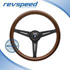 NARDI Italy Steering Wheel Classic Classico Wood Black Spokes 360mm