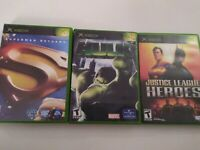 Justice League Heroes Hulk Superman Return Original Xbox Boys Lot Complete Kids
