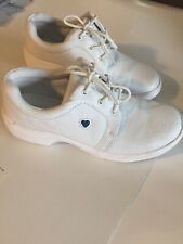 Nurse Mates Womens White Leather Nursing Shoes SIZE 6 M EUC