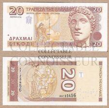 Greece 20 Drachma Drachmas 2014 UNC NEUF RARE SPECIMEN Test Note Banknote