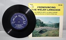 """7"""" EP - Pronouncing The Welsh Language - Gwenyth Petty & Emrys Cleaver - 1963"""