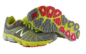 New Balance Womens 890v4 Running Course Shoes in Silver/Yellow/Red Cherry size