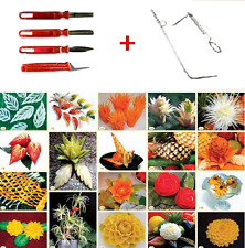 2 Sets tools for slicing and stuffing Vegetable Fruit Carving CARBOVOUS tool
