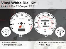 Audi 80 (1986 - 1996) S2 Coupe / RS2 - 160mph / 7000rpm - Vinyl White Dial Kit